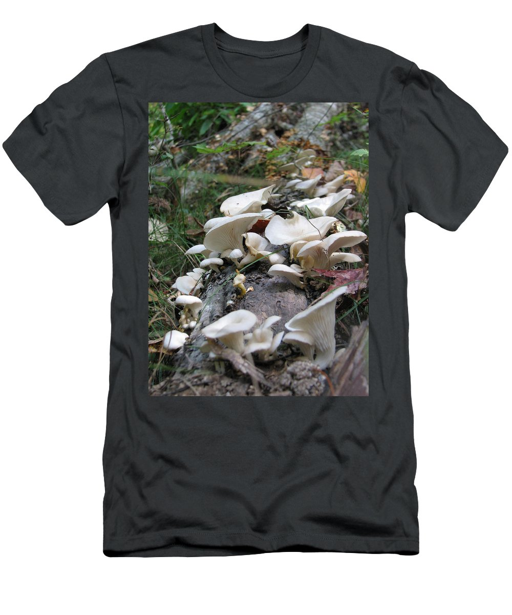 Mushroom T-Shirt featuring the photograph Flowering Fungi by Creative Solutions RipdNTorn