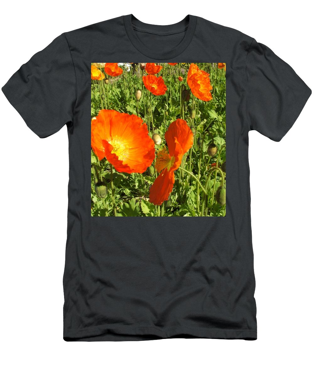 Flowers Men's T-Shirt (Athletic Fit) featuring the photograph Flowers by Shari Chavira