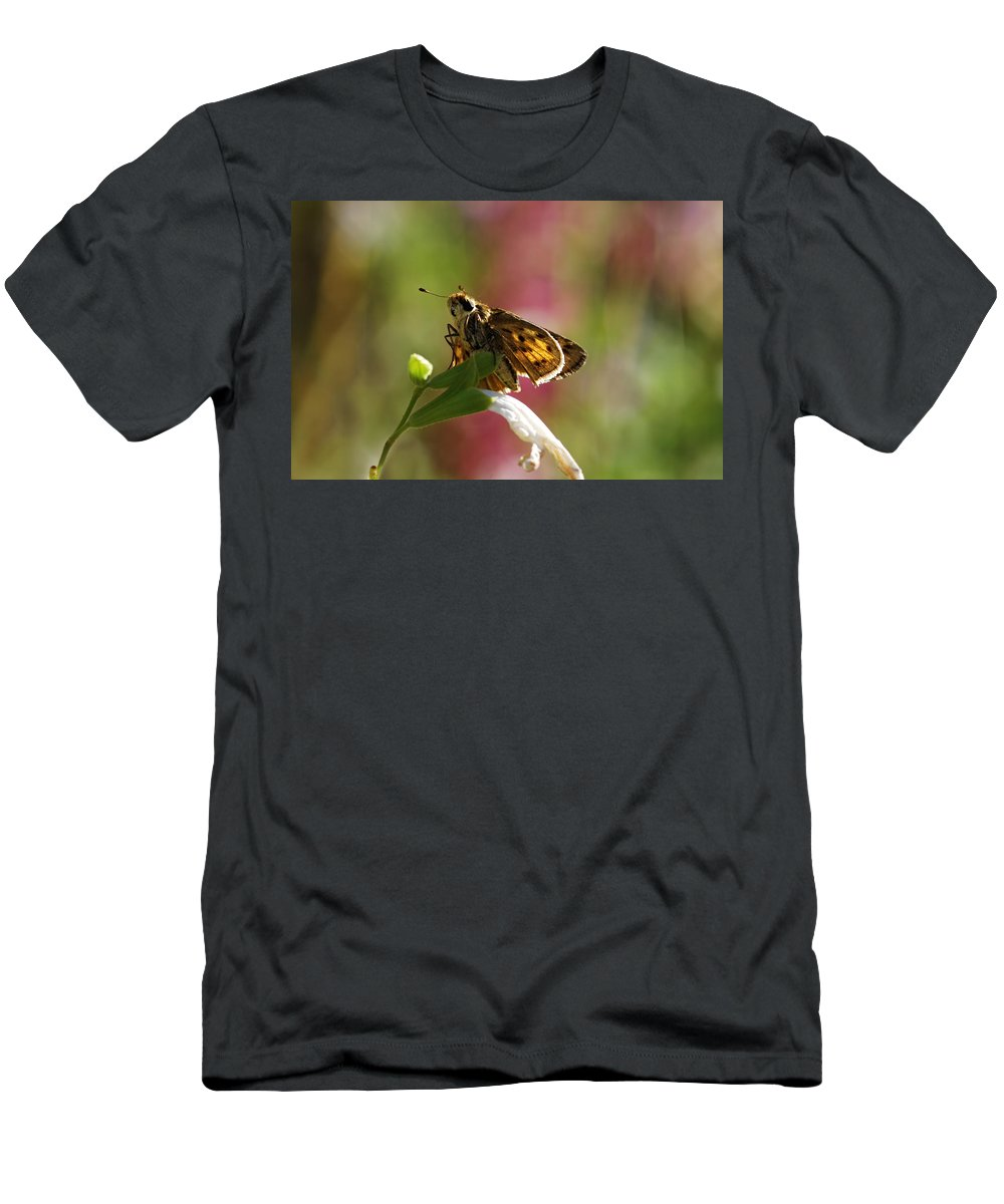 Moth Men's T-Shirt (Athletic Fit) featuring the photograph Flutter by Donna Blackhall