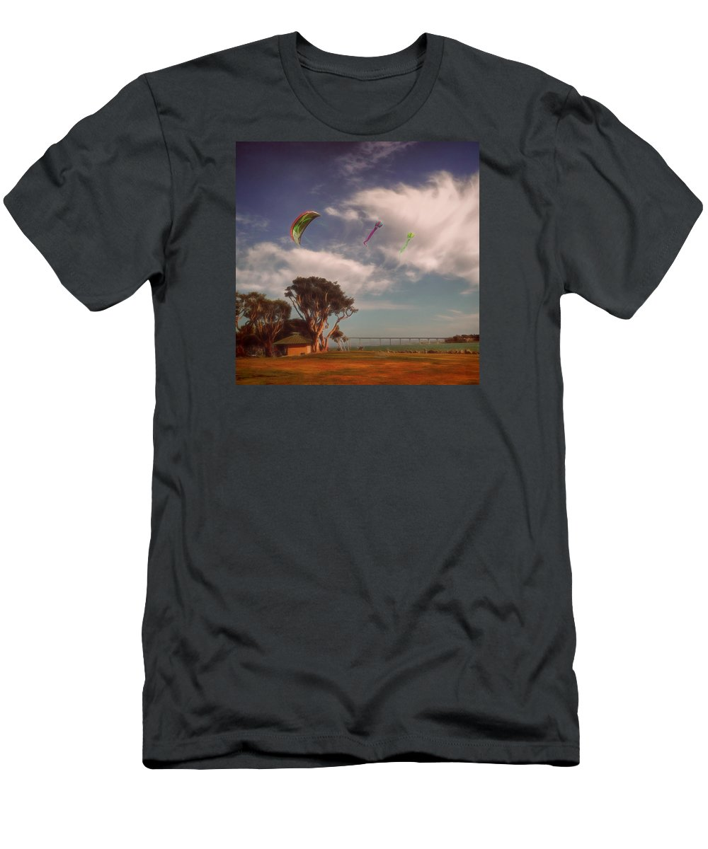 California Men's T-Shirt (Athletic Fit) featuring the photograph Flying High by Claude LeTien