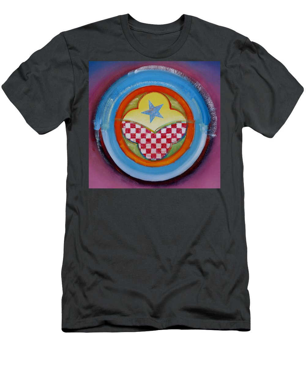 Logo Men's T-Shirt (Athletic Fit) featuring the painting Flying Star by Charles Stuart