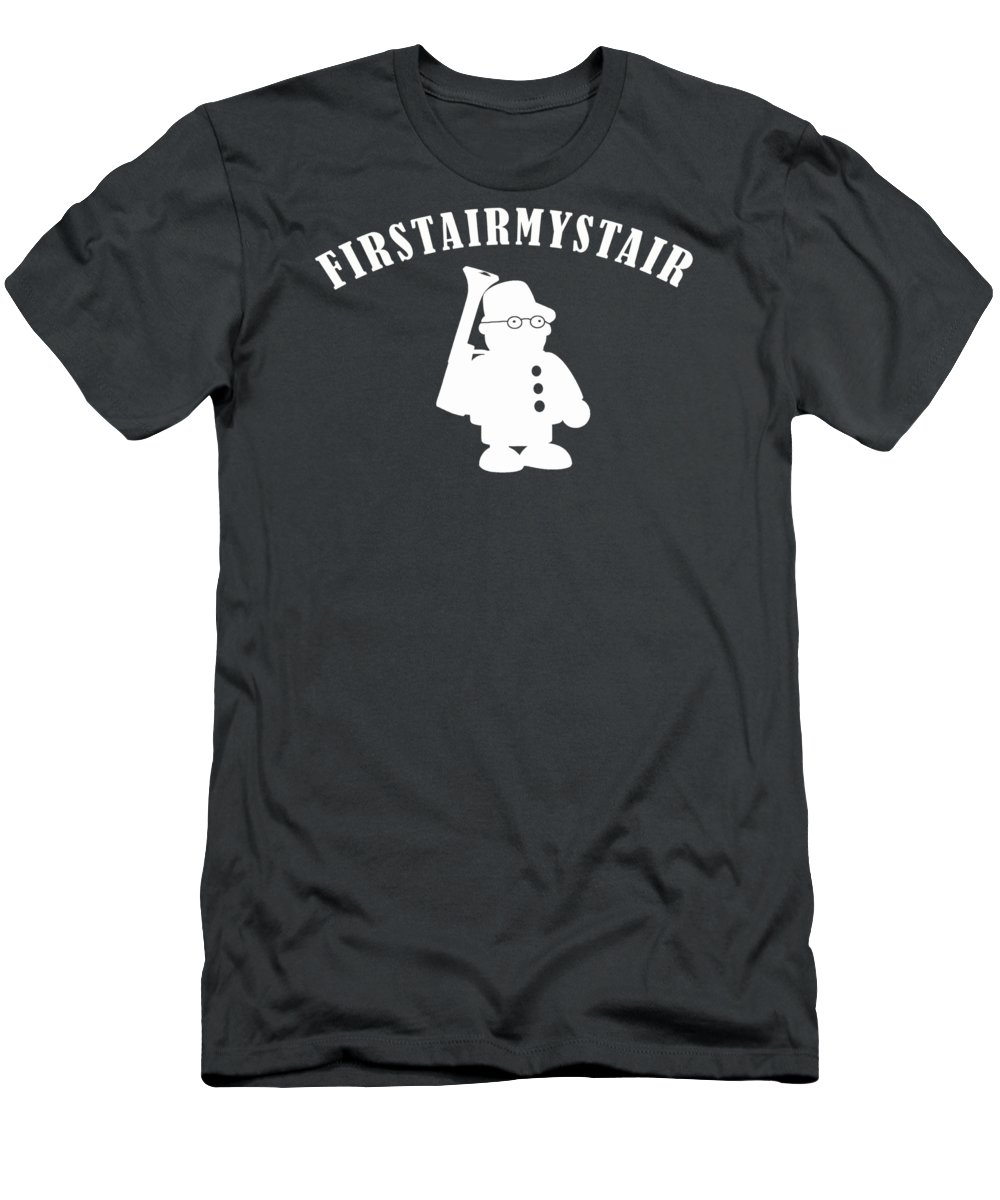 Foerstermeister Men's T-Shirt (Athletic Fit) featuring the digital art Foerstermeister - Easy Learning German Language by Frank Hoven