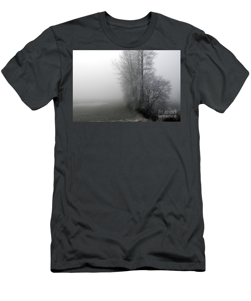 Fog Men's T-Shirt (Athletic Fit) featuring the photograph Fog by Sharon Talson