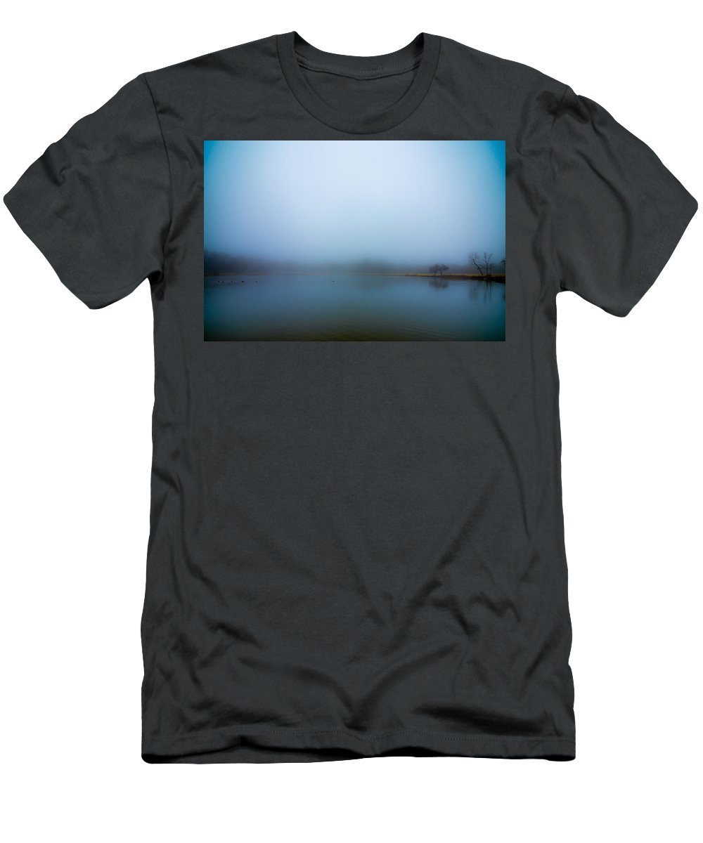 Men's T-Shirt (Athletic Fit) featuring the photograph Foggy Morn by David Downs