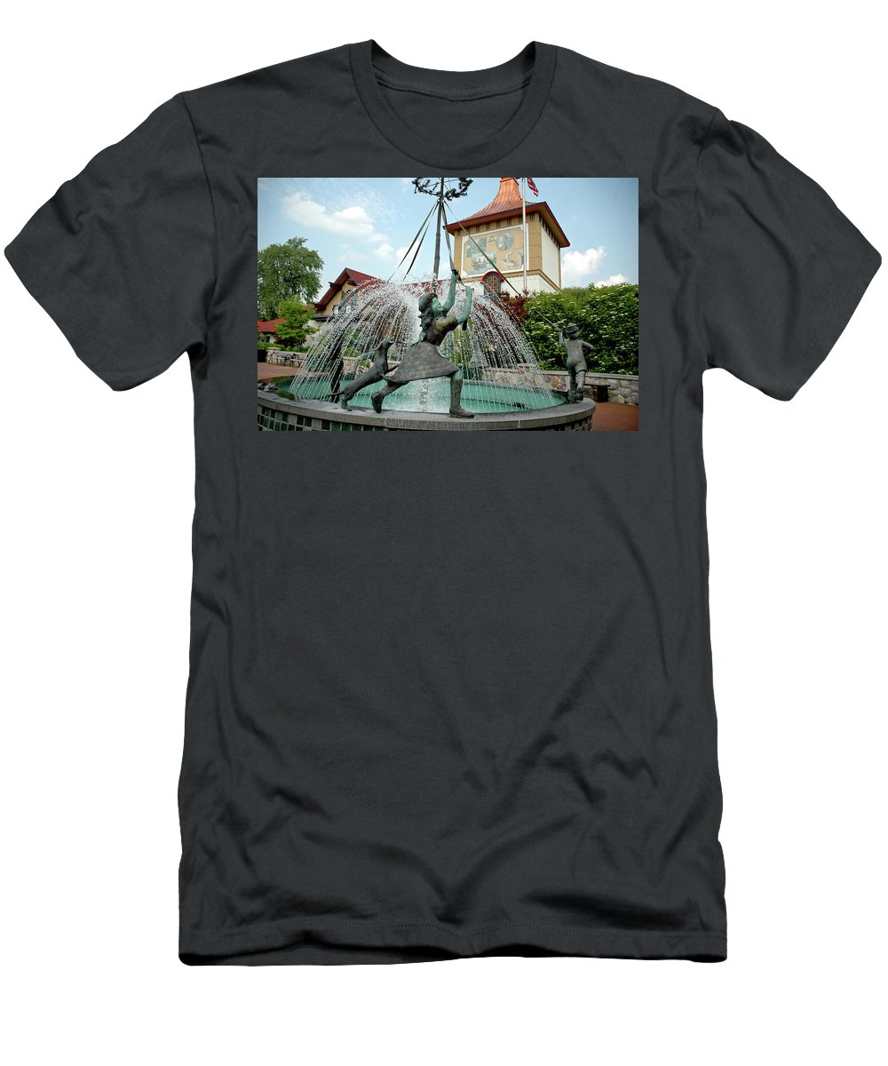 Usa Men's T-Shirt (Athletic Fit) featuring the photograph Follow Me Around The May Pole by LeeAnn McLaneGoetz McLaneGoetzStudioLLCcom