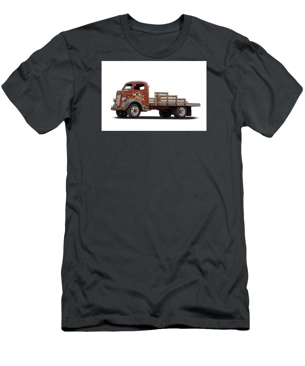 Ford Men's T-Shirt (Athletic Fit) featuring the photograph Ford Classic 7 Up Truck by Nick Gray