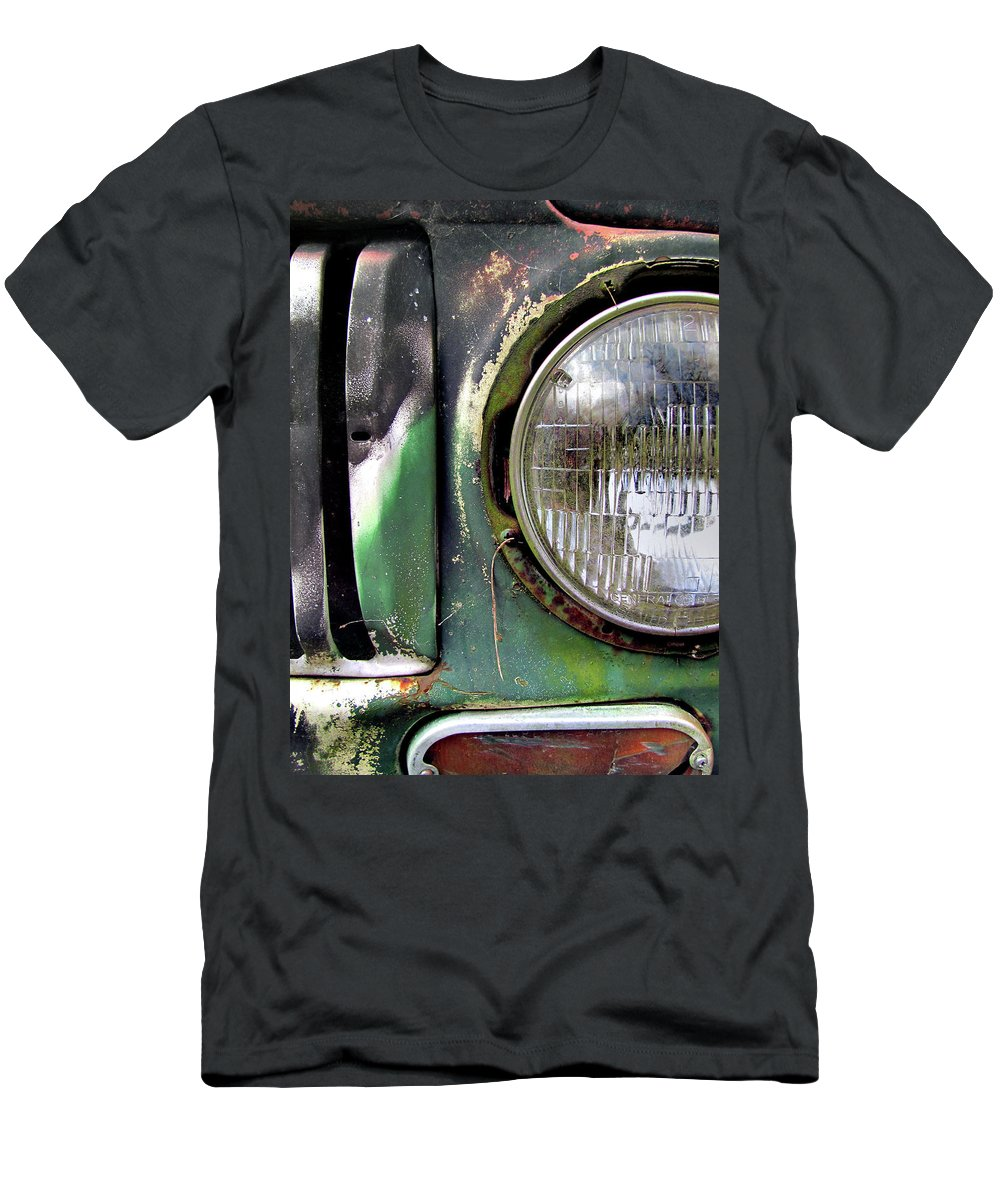 Truck Men's T-Shirt (Athletic Fit) featuring the photograph Ford Retro Truck Detail 1 by Karen Smith