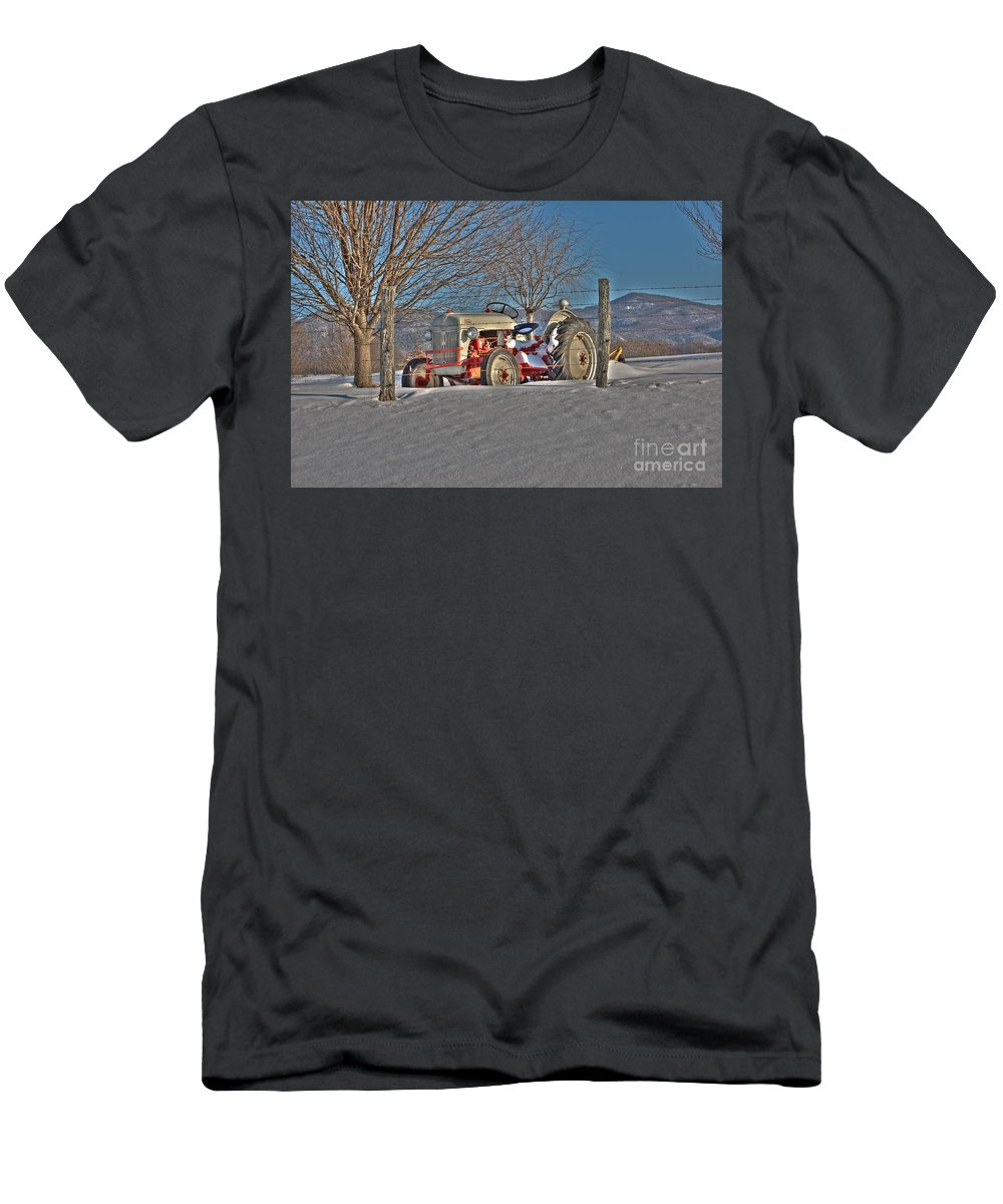 Ford Tractor Men's T-Shirt (Athletic Fit) featuring the photograph Ford Tractor by Todd Hostetter