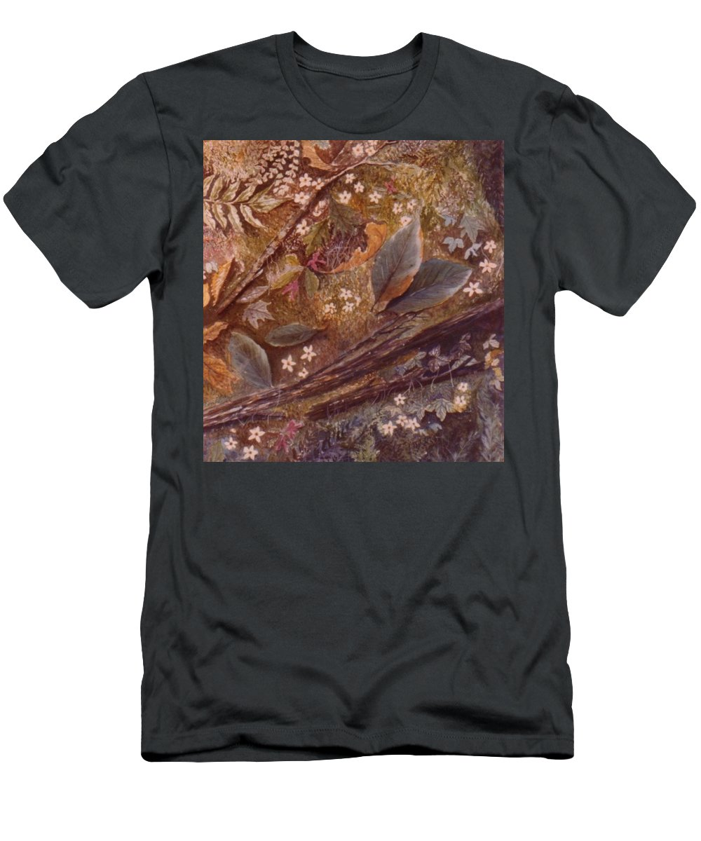 Leaves; Forest; Flowers T-Shirt featuring the painting Forest Floor by Ben Kiger