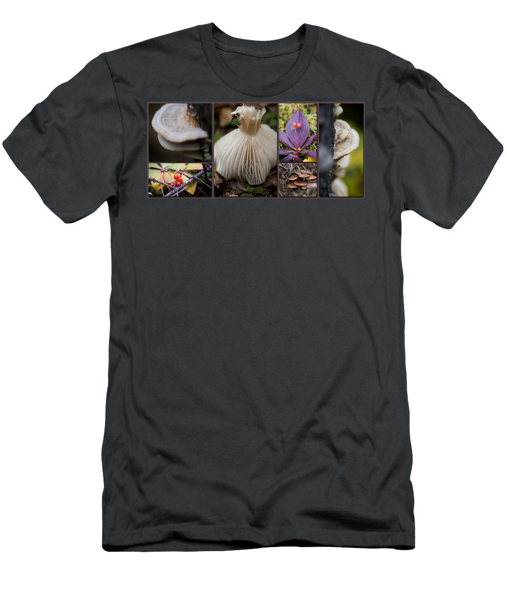Forest Men's T-Shirt (Athletic Fit) featuring the photograph Forest Floor by Lisa Knechtel