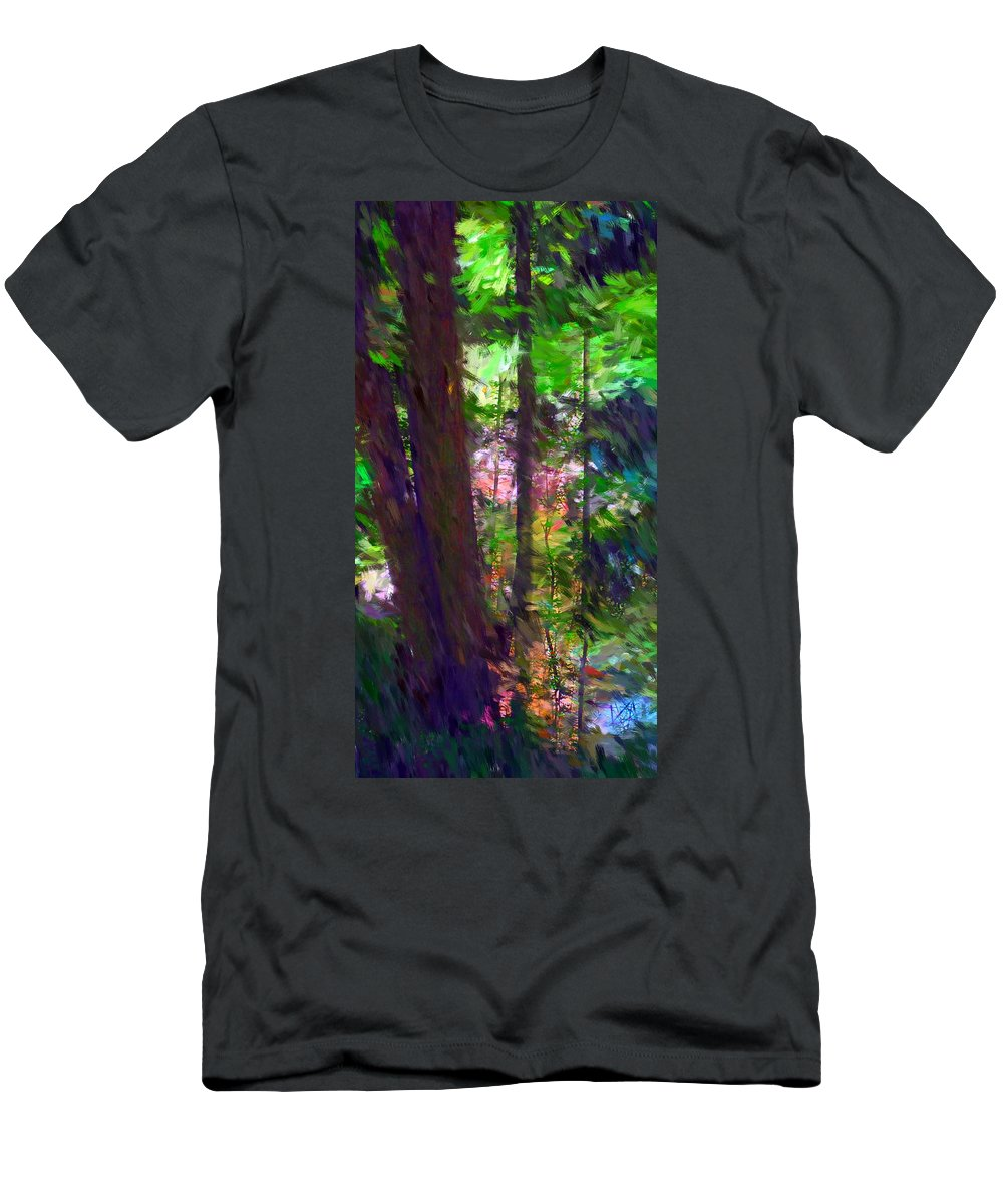 Digital Photography Men's T-Shirt (Athletic Fit) featuring the digital art Forest For The Trees by David Lane