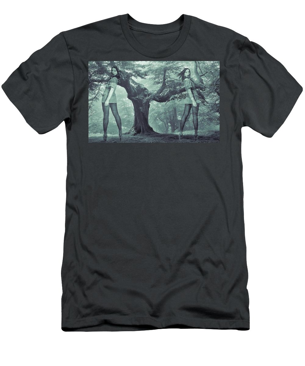 Colette Men's T-Shirt (Athletic Fit) featuring the photograph Forest Harmony by Colette V Hera Guggenheim
