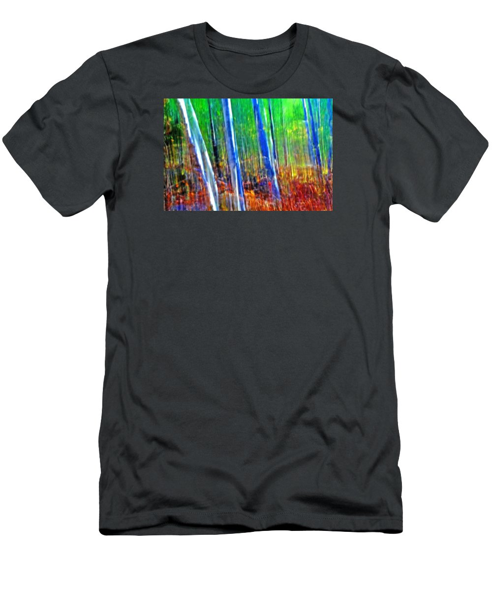 Forest Men's T-Shirt (Athletic Fit) featuring the photograph Forest Magic by Bill Morgenstern