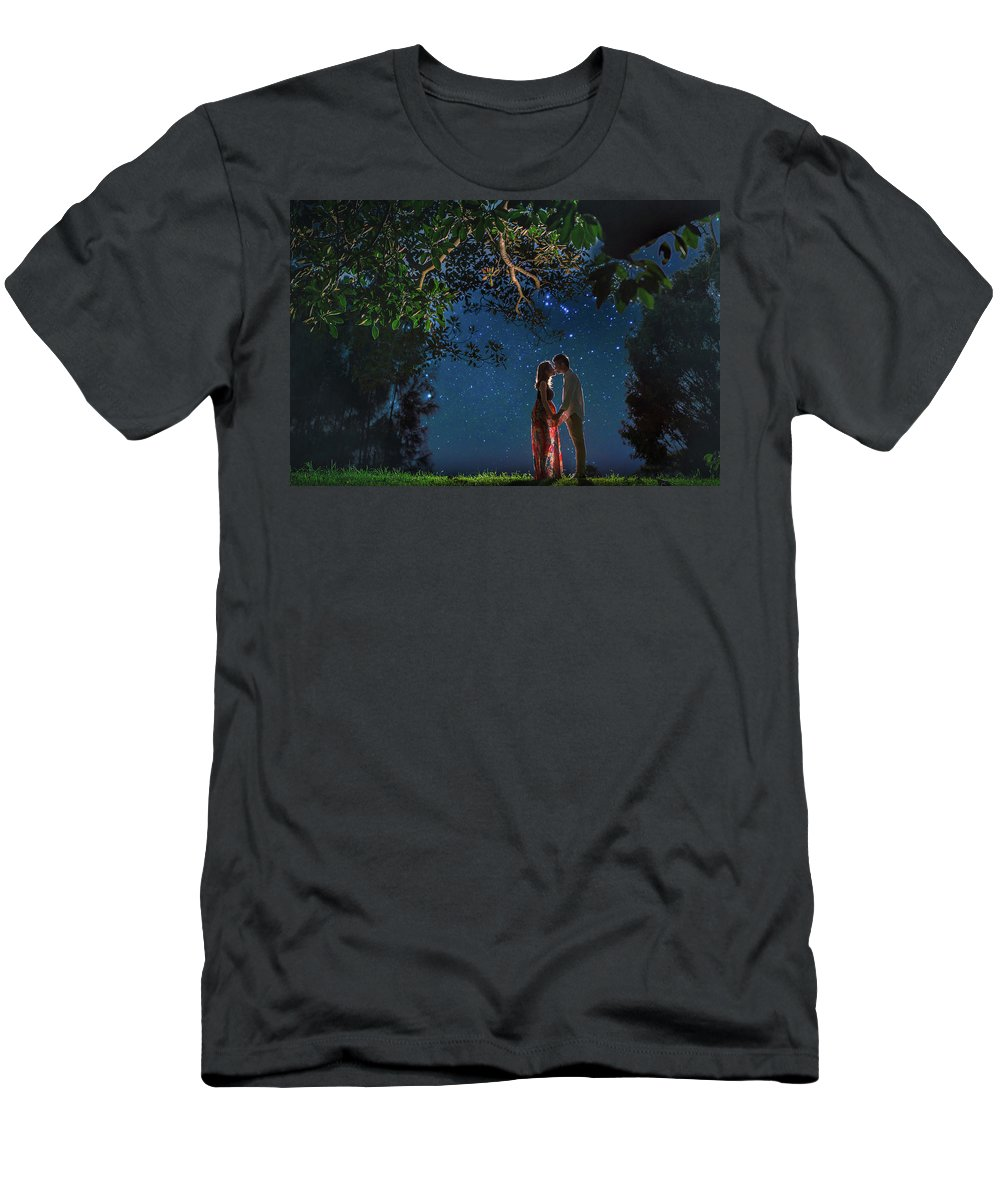 Love Men's T-Shirt (Athletic Fit) featuring the photograph Forest Mingle by Amail Khattak