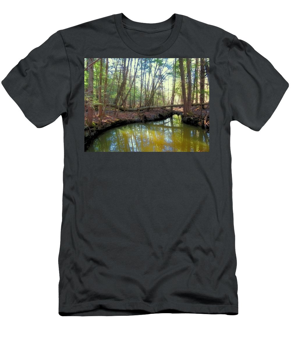 Forest Men's T-Shirt (Athletic Fit) featuring the photograph Forest Pool by MTBobbins Photography