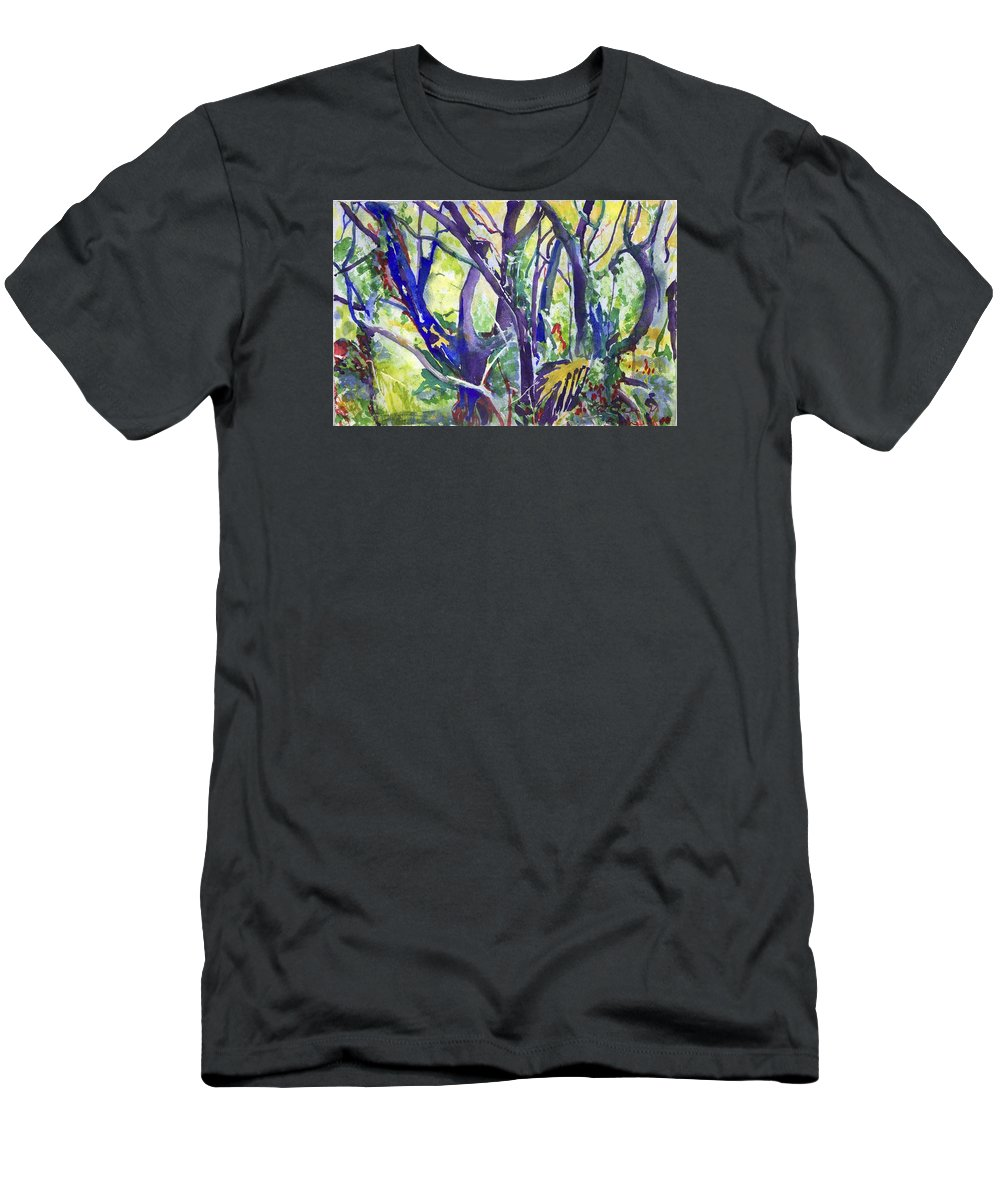 T-Shirt featuring the painting Forest Rainbow by Kathleen Barnes