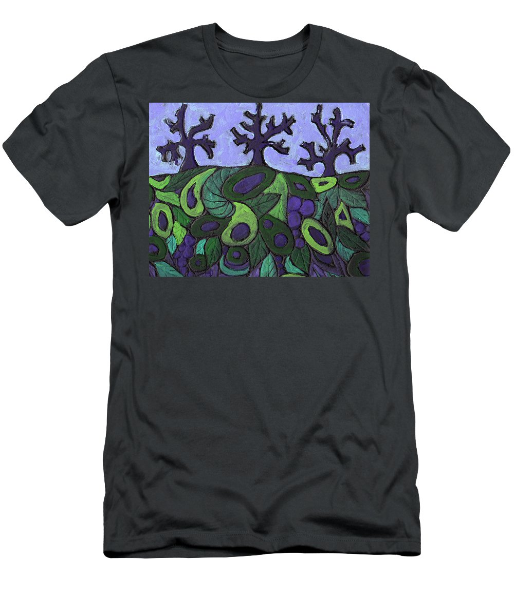 Forest Men's T-Shirt (Athletic Fit) featuring the painting Forest Royal by Wayne Potrafka