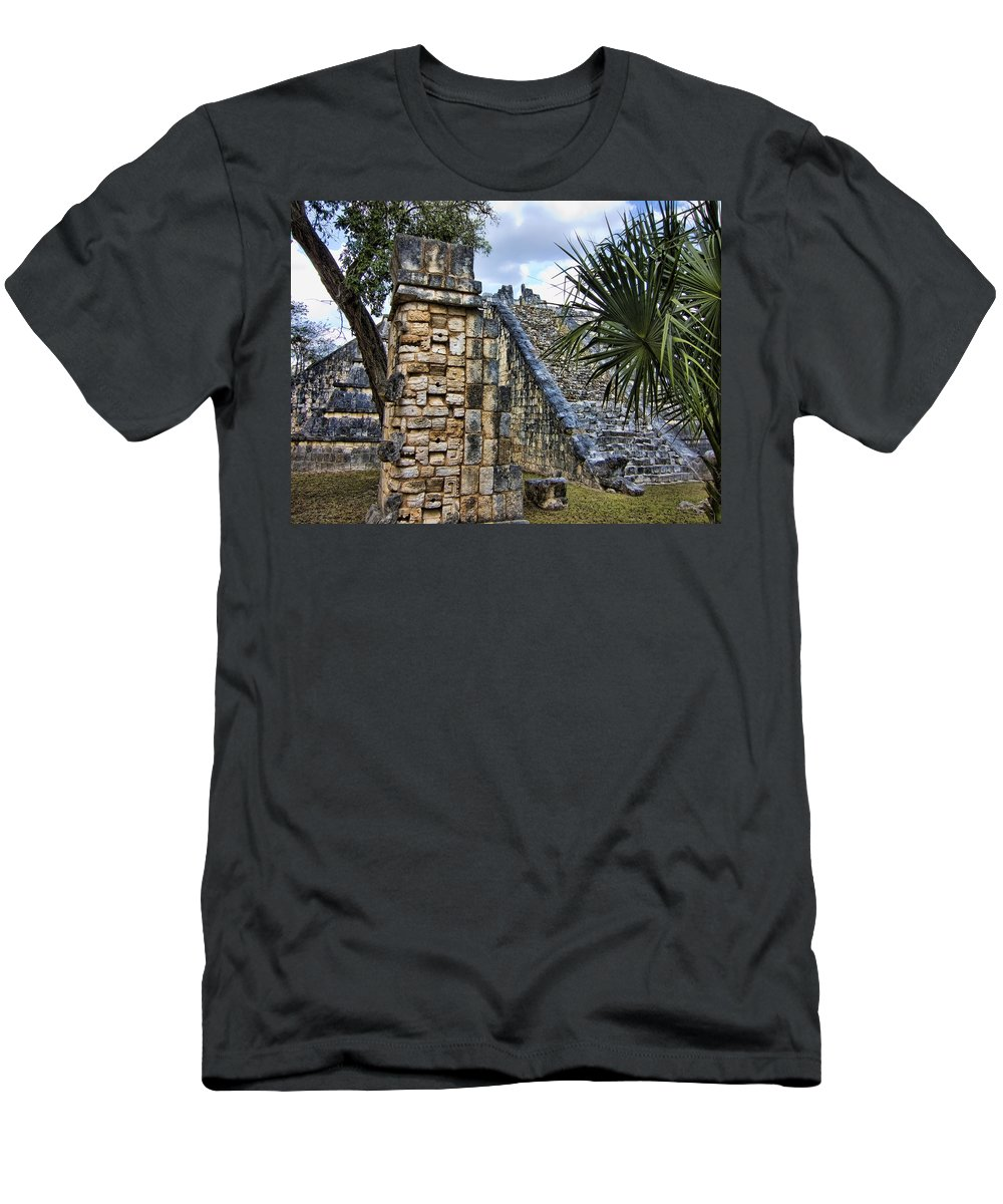 Chichen Itza Men's T-Shirt (Athletic Fit) featuring the photograph Forgotten Era by Douglas Barnard