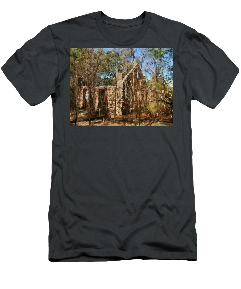 Abandon Men's T-Shirt (Athletic Fit) featuring the painting Forgotten by Jeffrey Kolker