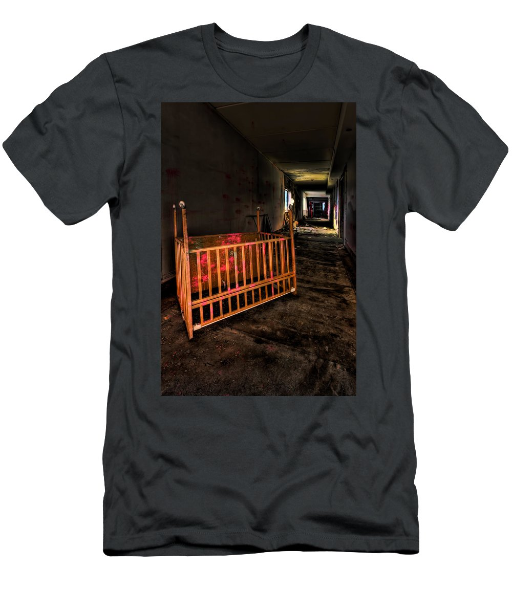 Lullaby Men's T-Shirt (Athletic Fit) featuring the photograph Forgotten Lullaby by Evelina Kremsdorf