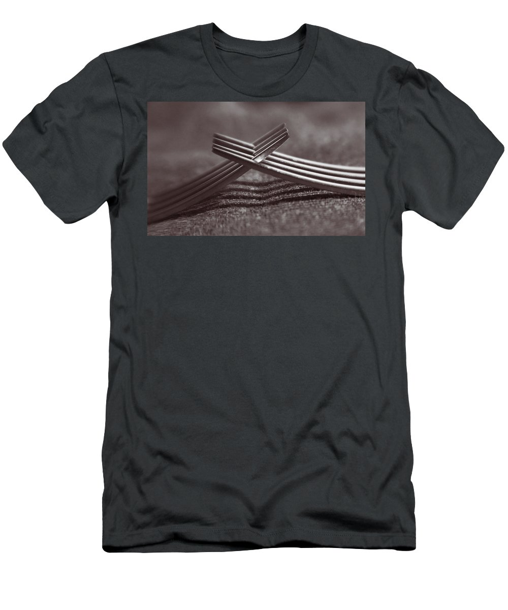 Forks Men's T-Shirt (Athletic Fit) featuring the photograph Forking by Steve Williams