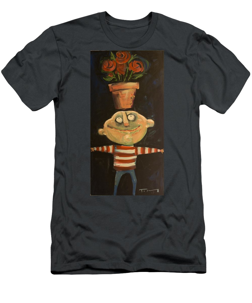 Man Men's T-Shirt (Athletic Fit) featuring the painting Forrest The Florist by Tim Nyberg