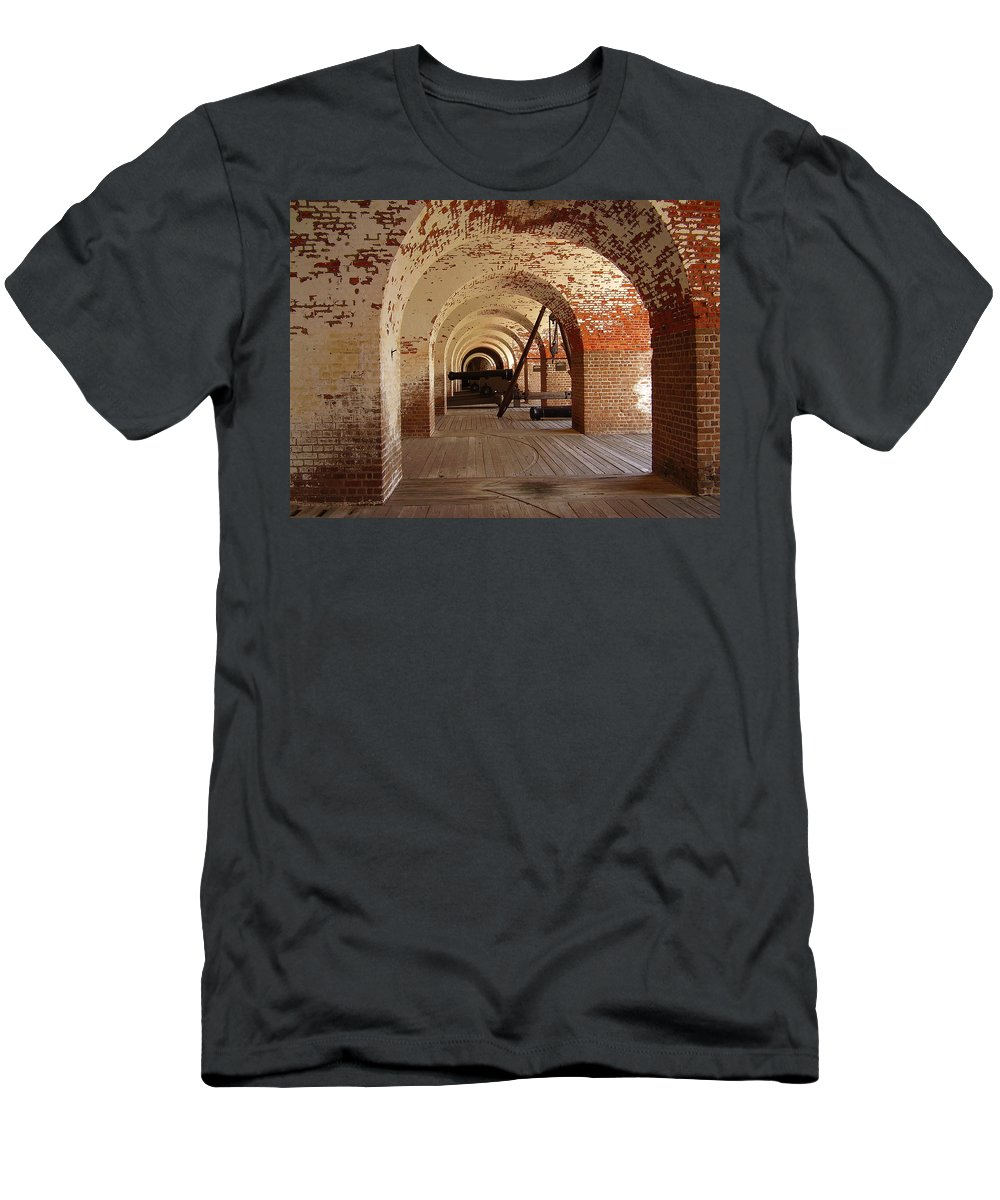 Fort Pulaski Men's T-Shirt (Athletic Fit) featuring the photograph Fort Pulaski II by Flavia Westerwelle