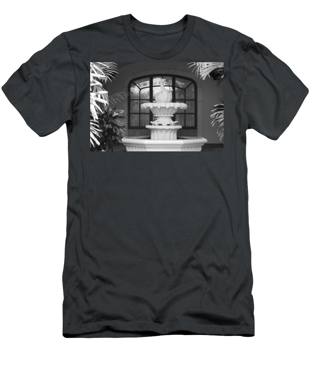 Architecture Men's T-Shirt (Athletic Fit) featuring the photograph Fountian And Window by Rob Hans