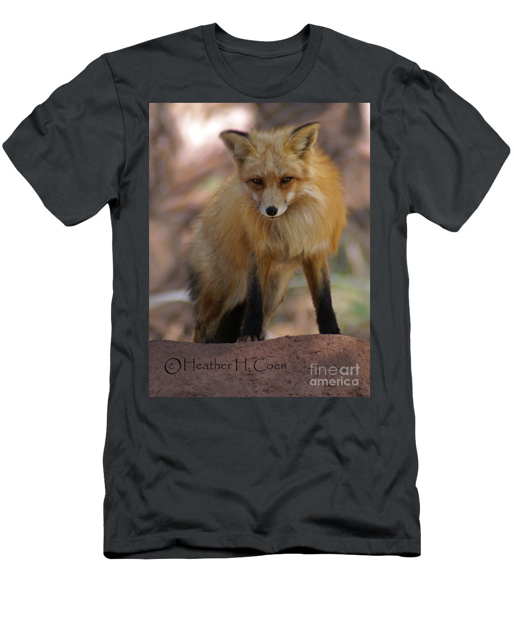 Fox Men's T-Shirt (Athletic Fit) featuring the photograph Fox by Heather Coen