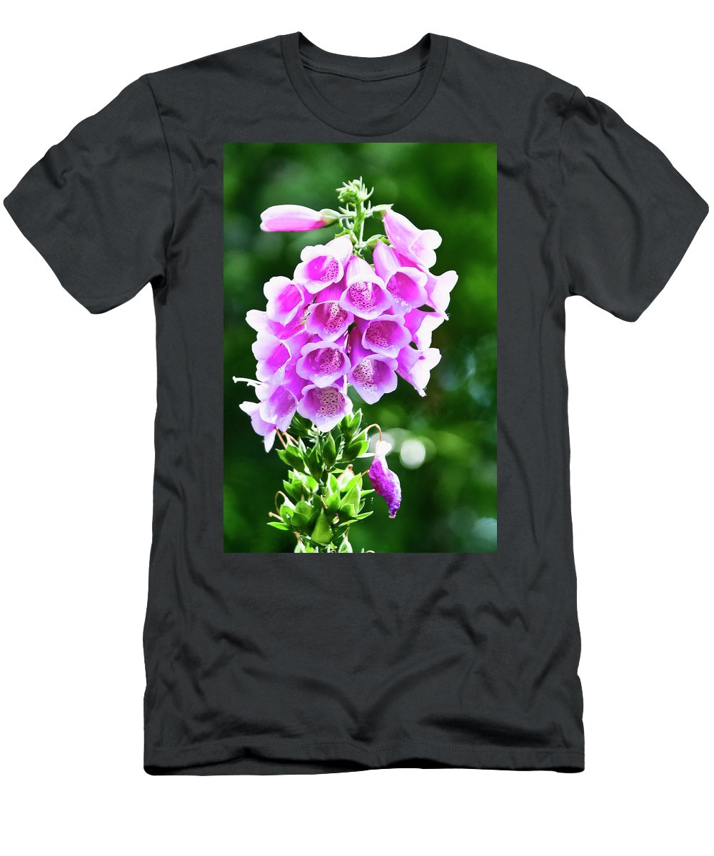 Wildflower Men's T-Shirt (Athletic Fit) featuring the photograph Foxglove by Albert Seger