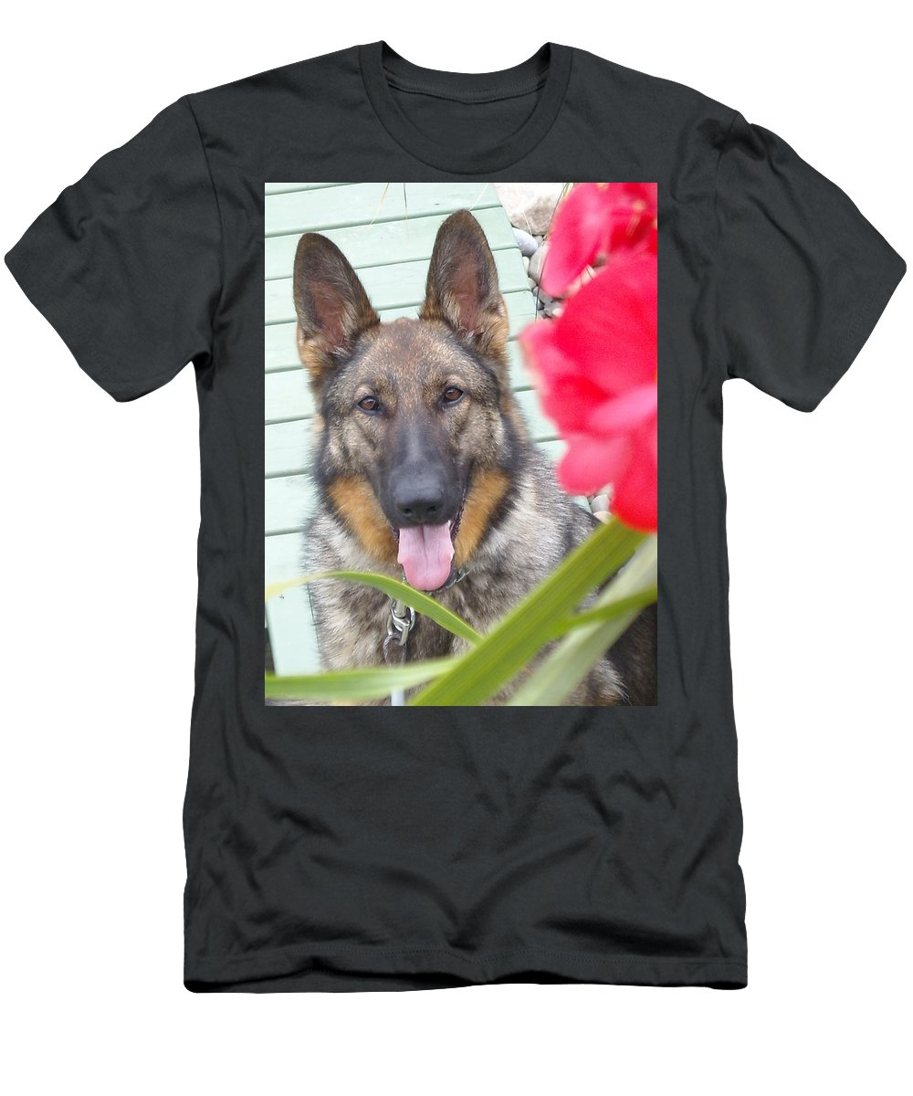 Dog Men's T-Shirt (Athletic Fit) featuring the photograph Foxy by Line Gagne