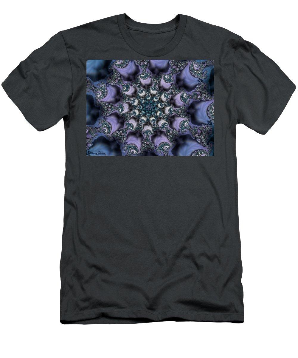 Fractal Rose Blossom Nature Life Organic T-Shirt featuring the digital art Fractal 1 by Veronica Jackson