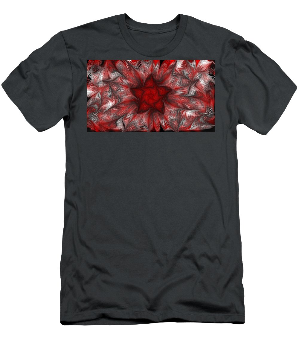 Abstract Digital Painting Men's T-Shirt (Athletic Fit) featuring the digital art Fractal Garden 3 by David Lane