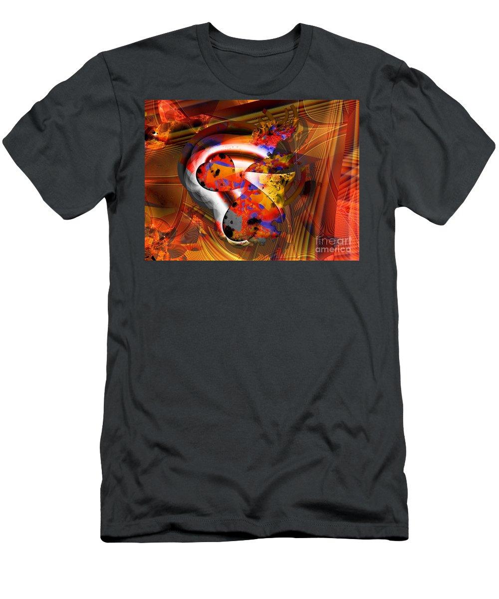 Heart T-Shirt featuring the digital art Fractal Heart by Ron Bissett