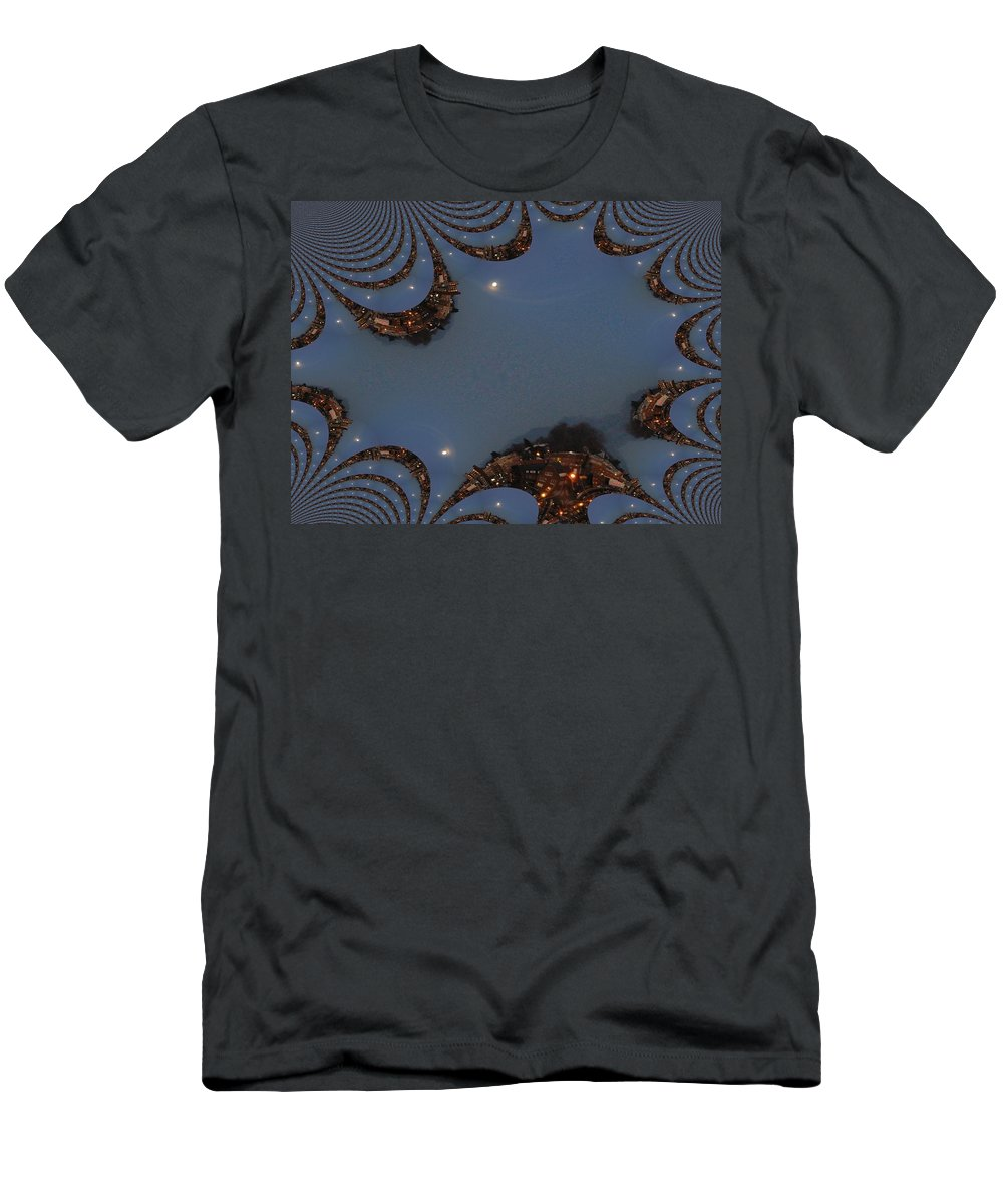Moon Men's T-Shirt (Athletic Fit) featuring the digital art Fractal Moon by Tim Allen