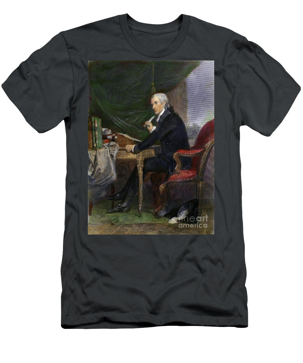 18th Century Men's T-Shirt (Athletic Fit) featuring the drawing Francis Hopkinson by Granger