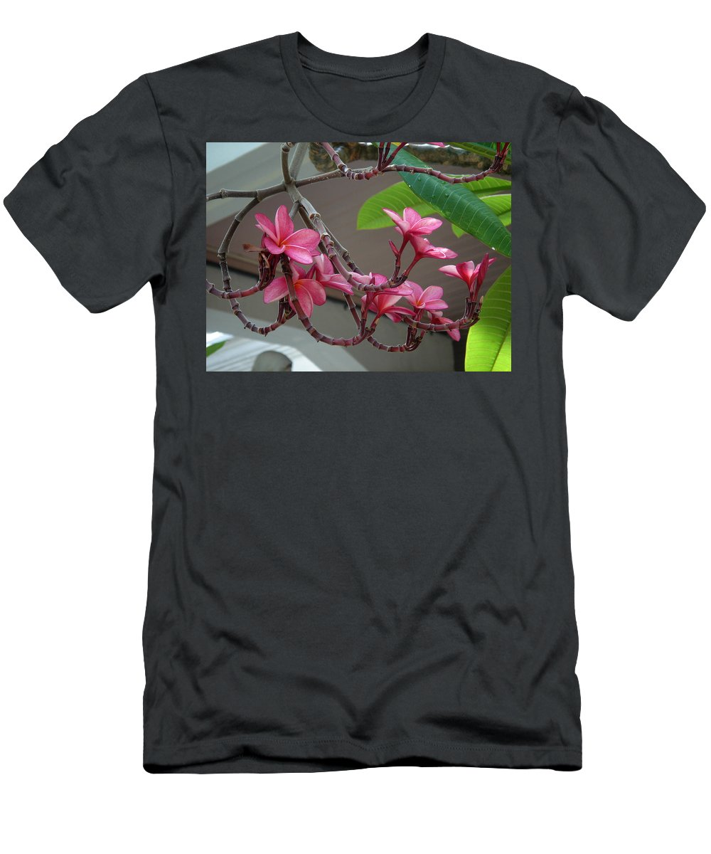 Flower Men's T-Shirt (Athletic Fit) featuring the photograph Frangipani Flowers by Susanne Van Hulst
