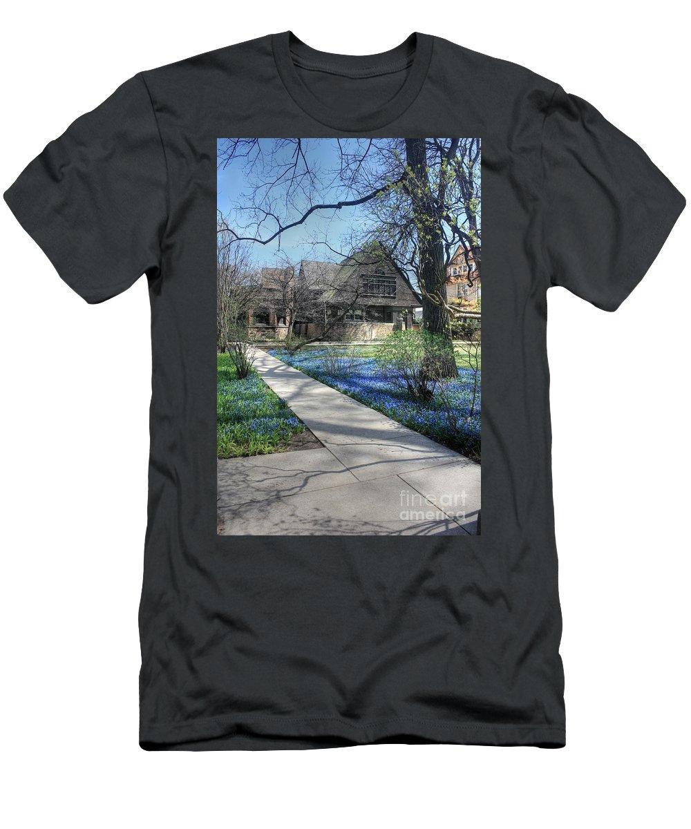 Frank Lloyd Wright Men's T-Shirt (Athletic Fit) featuring the photograph Frank Lloyd Wright Studio by David Bearden