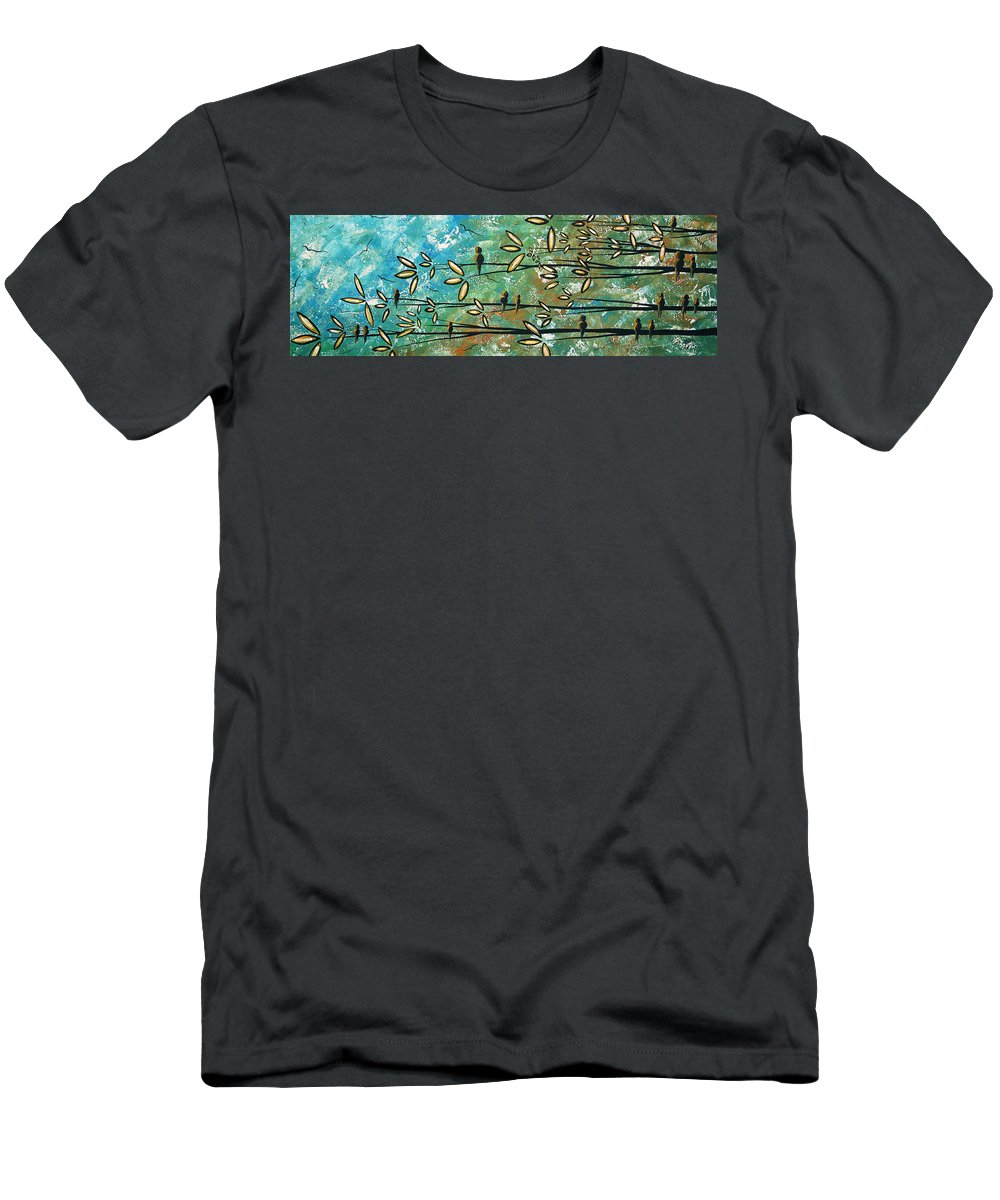 Art Men's T-Shirt (Athletic Fit) featuring the painting Free As A Bird By Madart by Megan Duncanson