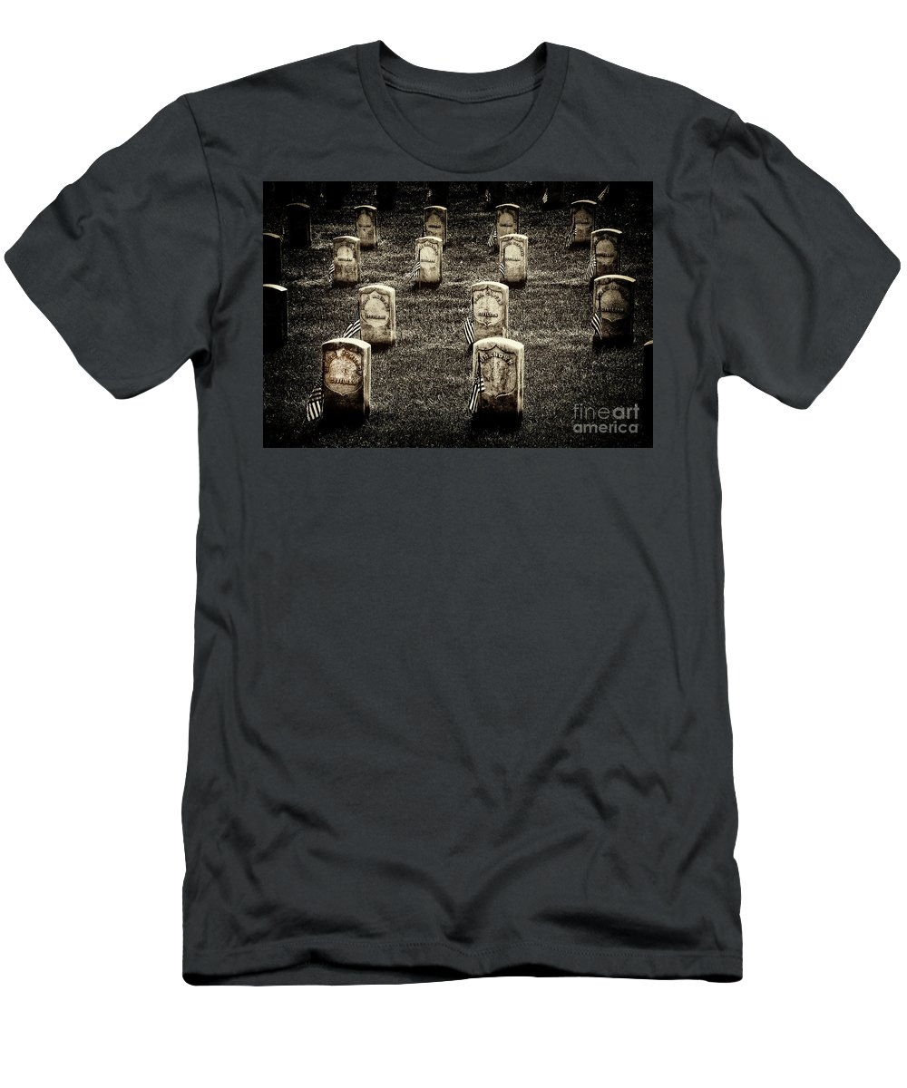Arlington National Cemetery Men's T-Shirt (Athletic Fit) featuring the photograph Free Slaves by Paul W Faust - Impressions of Light