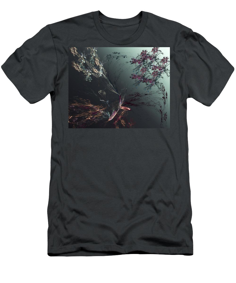 Abstract Men's T-Shirt (Athletic Fit) featuring the digital art Freeze Frame by David Lane