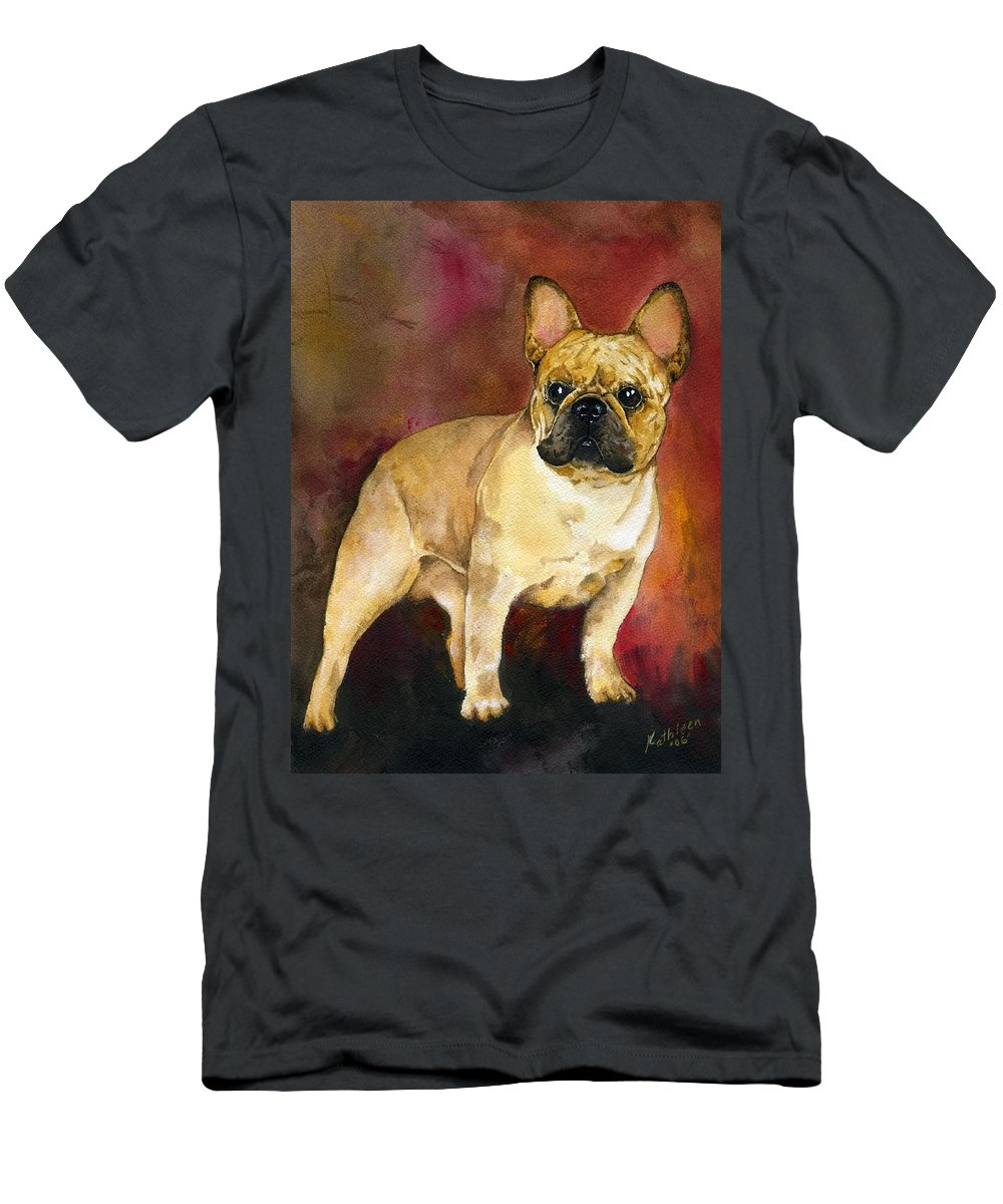 French Bulldog T-Shirt featuring the painting French Bulldog by Kathleen Sepulveda