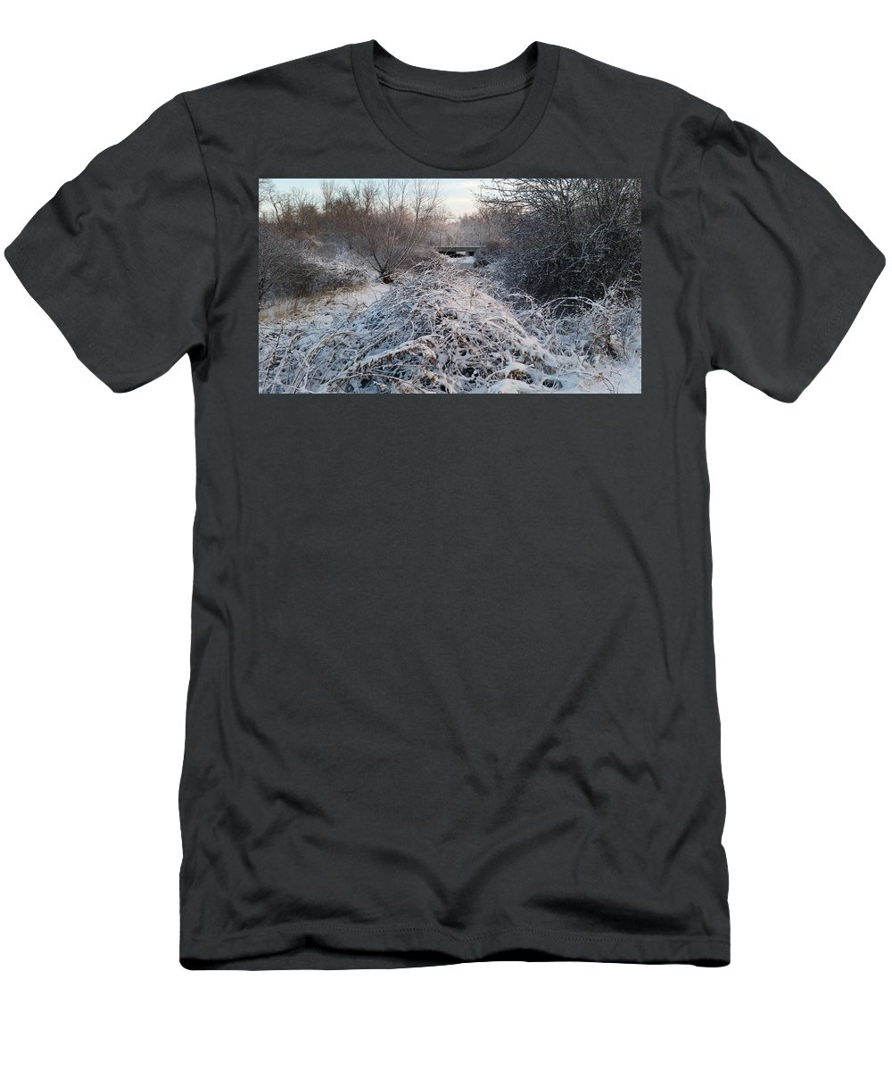Snow Men's T-Shirt (Athletic Fit) featuring the photograph Fresh Blanket Of White by Cliff Ball