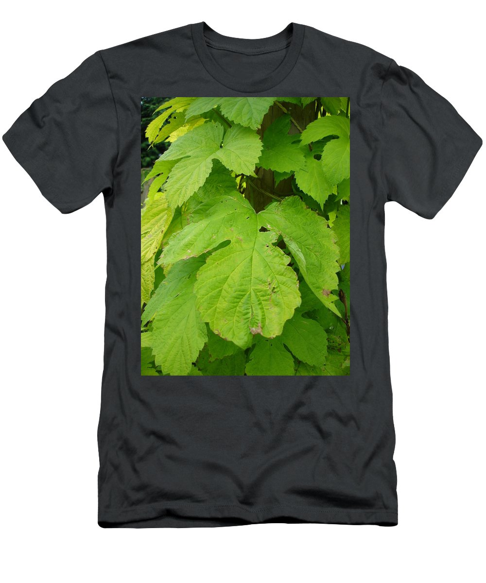 Hop Men's T-Shirt (Athletic Fit) featuring the photograph Fresh English Golden Hop by Susan Baker