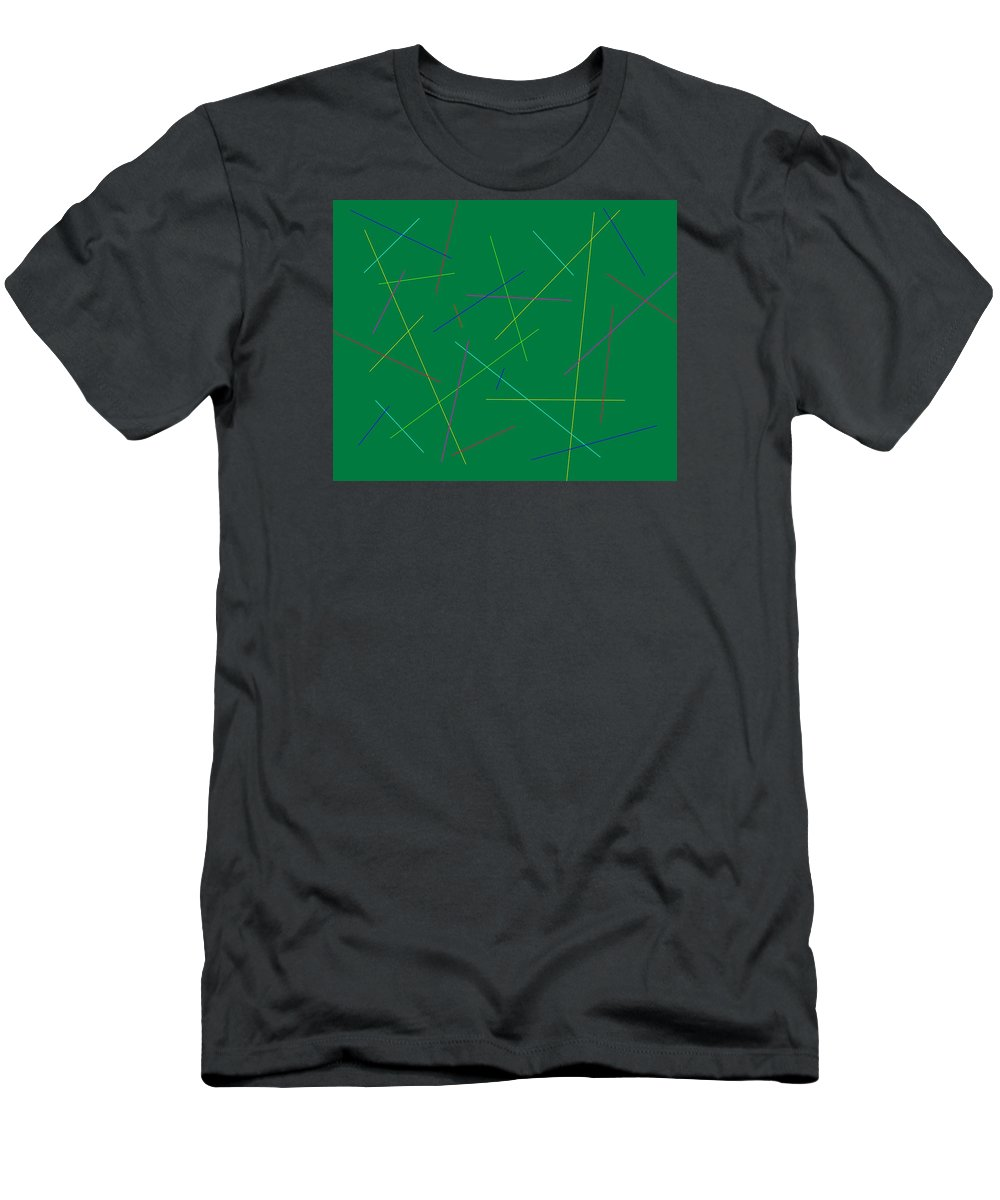 Friday Men's T-Shirt (Athletic Fit) featuring the digital art Friday At Ten by Jeff Gater