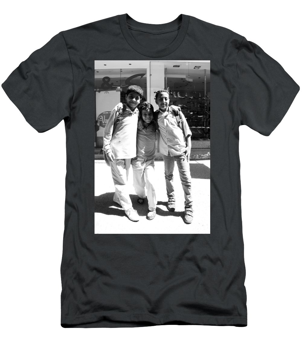 Jezcself Men's T-Shirt (Athletic Fit) featuring the photograph Friends And More by Jez C Self