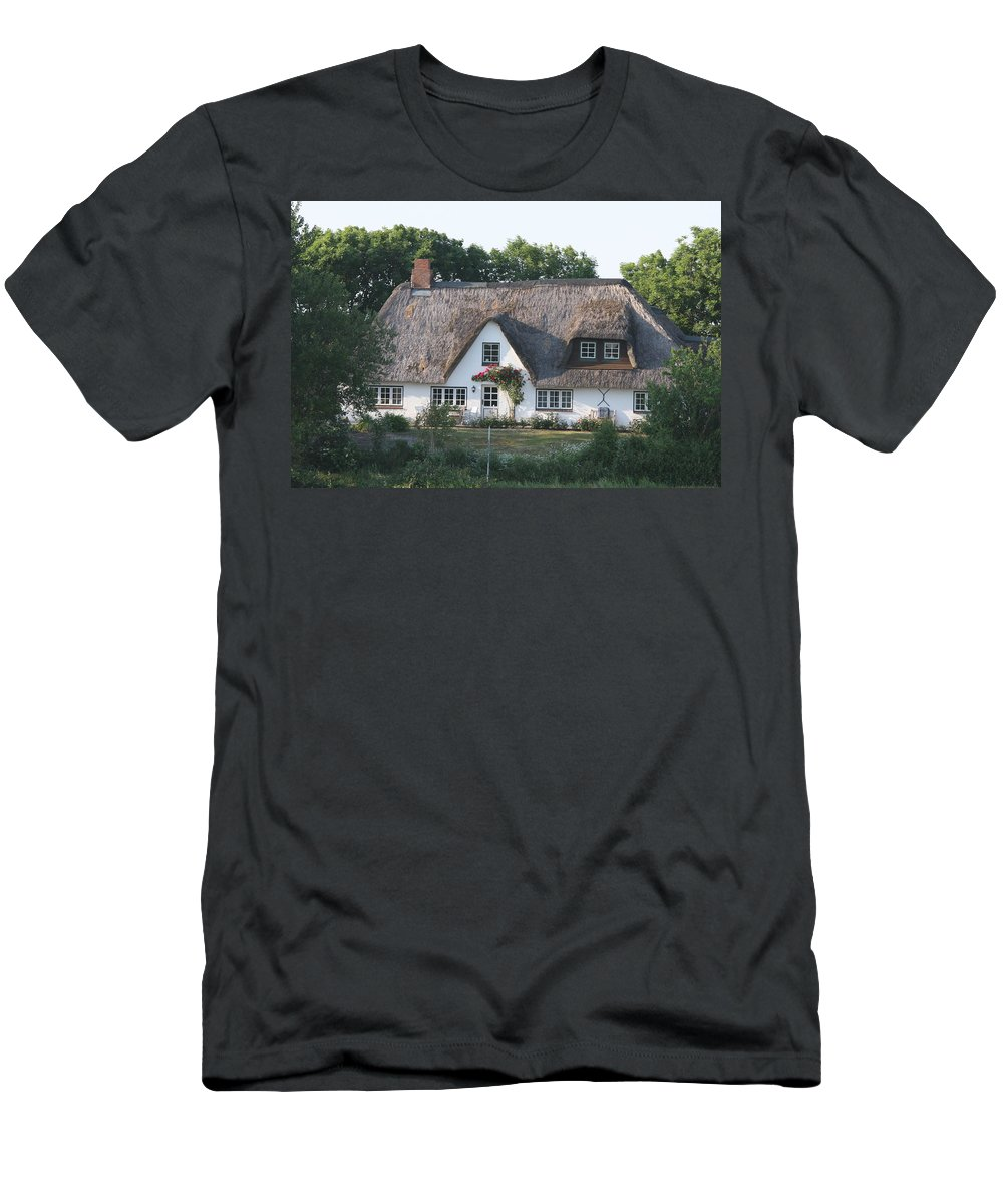 Thatched Roof House Men's T-Shirt (Athletic Fit) featuring the photograph Friesian House by Christiane Schulze Art And Photography