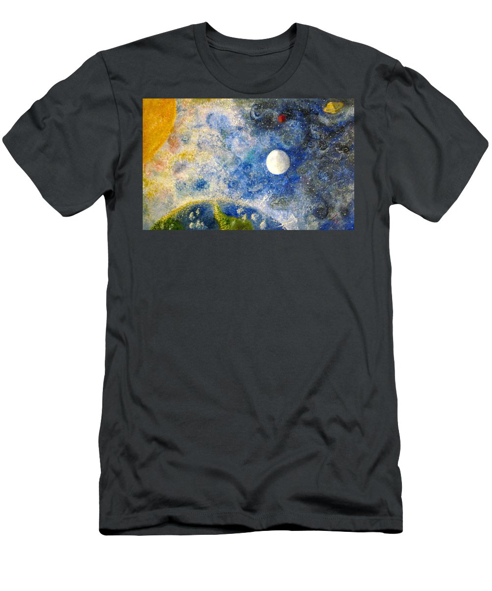 Pointillism Men's T-Shirt (Athletic Fit) featuring the painting From A Distance by Tina Swindell