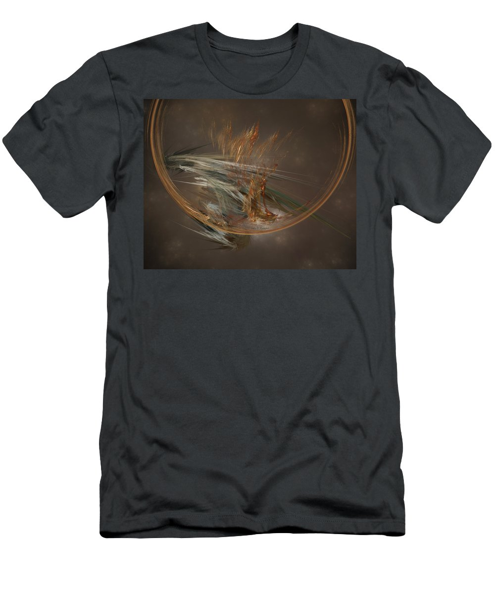 John Knapko Men's T-Shirt (Athletic Fit) featuring the digital art From The Shire To Mordor by John Knapko