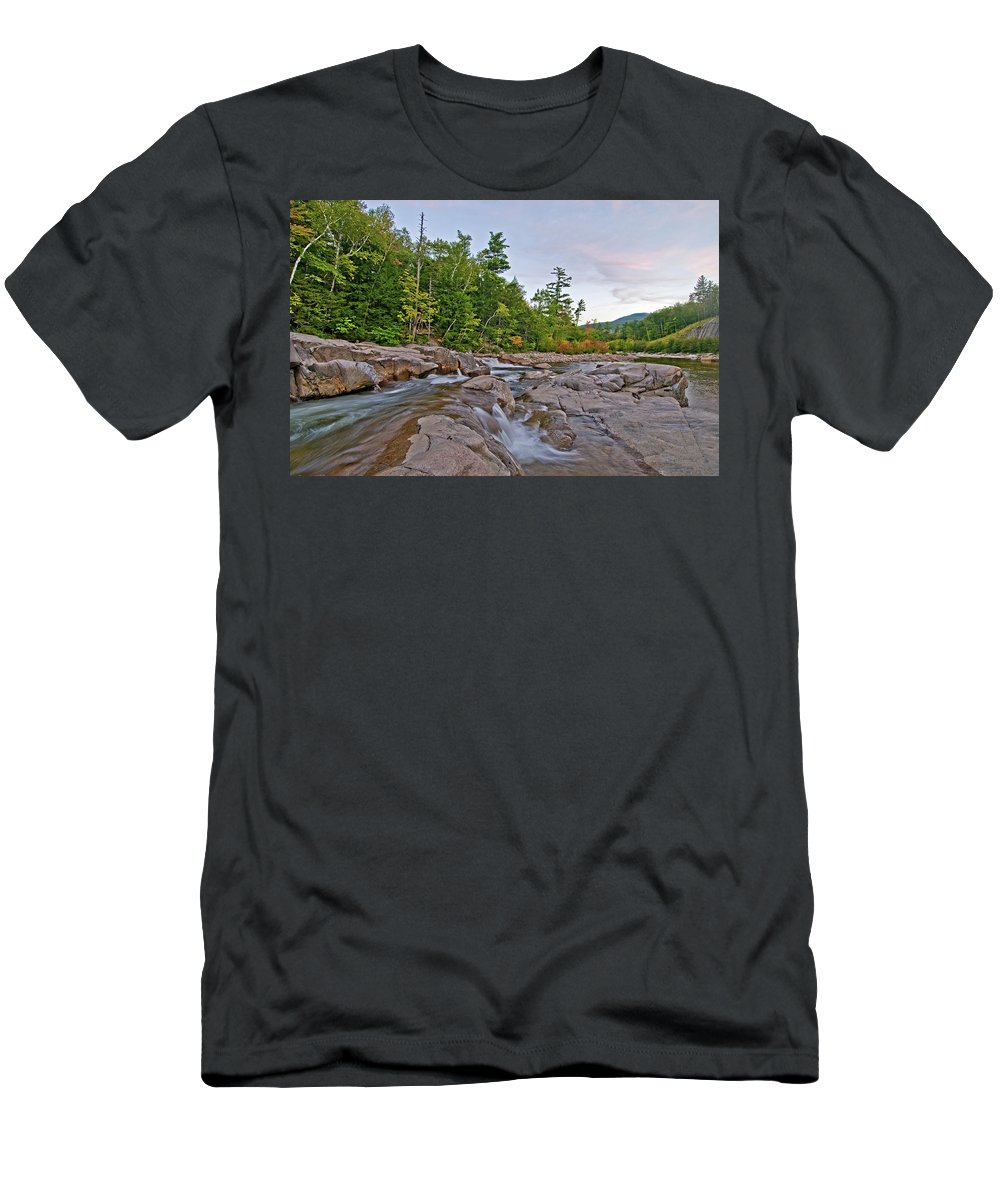 lower Falls Men's T-Shirt (Athletic Fit) featuring the photograph From The Top Of The Falls by Paul Mangold